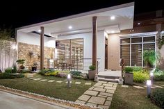 Magnificent Architect Ireneo P. Roque builds a unique house with a neutral color palette and contemporary design elements The post Architect Ireneo P. Roque builds a unique house with a neutral . Zen House Design, Modern Bungalow House Design, Modern Small House Design, Small Modern Home, Modern Zen House, Modern House Plans, Small Modern House Exterior, Modern House Philippines, Philippine Houses