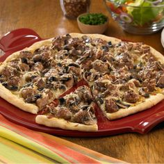 Tuscan Sausage Pizza Recipe -Recipe provided by Johnsonville® Sausage