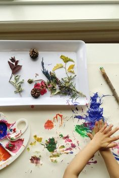 Experience creating with nature in a different and fun way! Use items collected from hiking adventures in a painting project your toddler will love.