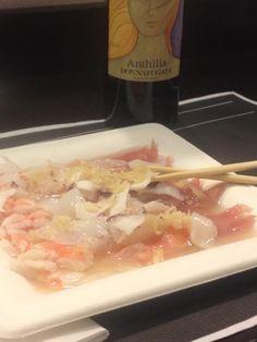 #Cevicheallagiapponesewonderful!  Gamberi, tonno, polpo, calamari, salmone…marinati al lime ed un tocco di zenzero! Delizia per il palato!