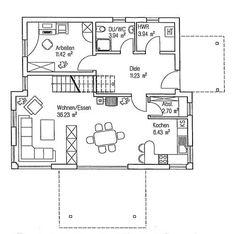 Grundriss Erdgeschoss: FINGERHUT HAUS – P 90.20