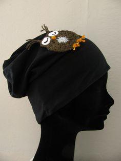 crochet owl in my hat