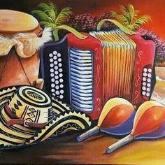 Painted Hats, Hand Painted, Colombian Art, South American Art, Haitian Art, Decoupage, Vintage Travel Posters, Art Studies, Kitchen Art