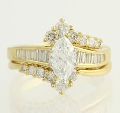 Marquise Diamond Engagement Ring & Enhancer by WilsonBrothers