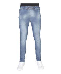 Carrera jeans - jeans uomo denim slim fit con laccio in vita - 4 tasche - composizione: 90% co 8% pl 2% ea - lavare 30° - Pantalone uomo Blu