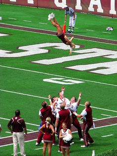 The sky is the limit by Roger Smith, via Flickr Mississippi State cheerleading cheerleaders