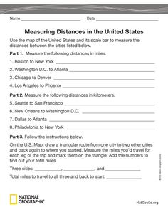 Students Use A Map Scale To Measure Distance Between Cities And Other Places On A Map Of Your State They Create And Exchange Quizzes And Use An Interactive