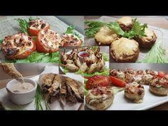 ТОП-5 ГОРЯЧИХ ЗАКУСОК - YouTube Baked Potato, Potatoes, Meat, Chicken, Baking, Ethnic Recipes, Youtube, Food, Potato