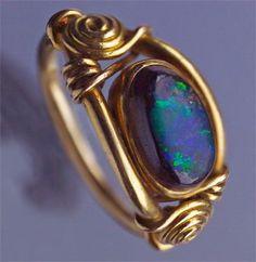 Art Nouveau opal ring by Tiffany