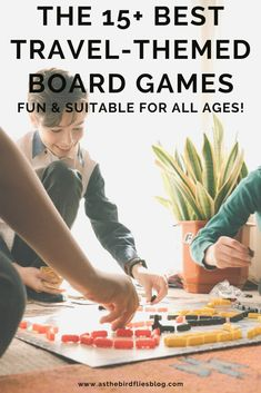 Family Travel at Home: The Best Travel-Themed Board Games for All Ages - Enjoy a family board game session with these travel-themed board games for kids and adults alike. Bring travel into your home with board games that take you on fun journeys, expand your world trivia knowledge and have playful twists on travel-themed games. Travel board games help you do some fun armchair travel or virtual travel at home with the whole family.