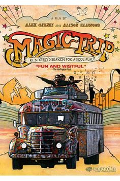 """MAGIC TRIP - Ken Kesey's Search for a Kool Place!  In 1964, Ken Kesey, the famed author of """"One Flew Over the Cuckoo's Nest,"""" set off on a legendary, LSD-fuelled cross-country road trip to the New York World's Fair. He was joined by """"The Merry Band of Pranksters,"""" a renegade group of counterculture truth-seekers, including Neal Cassady, the American icon immortalized in Kerouac's """"On the Road,"""" and the driver and painter of the psychedelic Magic Bus. Kesey and the Pranksters intended to make…"""