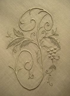 Love monogrammed linens