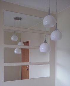 Decoracao sala de jantar com espelho e pendente