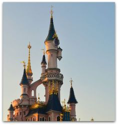 The top of the Disneyland Paris Castle