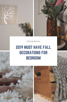 Decor ideas to brighten up small spaces. These decorations were used in my bedroom, but can easily be used in apartments for cozier fall living!
