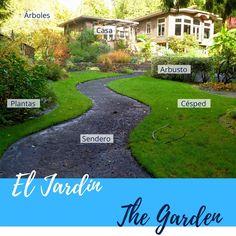 🌿🍂🌳EL JARDÍN   THE GARDEN🌿🍂🌳 . 🇪🇸 Es un espacio natural que encuentras frente a la casa antes de entrar. Tiene plantas, un sendero y cesped. VERBOS: caminar, regar las plantas. . -------- 🇺🇸 It is an outside area in front of the house. It usually has plants, a path and grass. VERBS: to walk, to water the plants. . . . #thegarden #jardin #vocabulary #vocabulario #ingles #english #español #spanish #spanishteacher #profedeingles #santiagodechile #betinglesp #talkspanish #hablainglés…