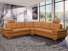 Salzburg Leather Sectional Sofa Sleeper by Nordholtz - tawee - SiePin Leather Living Room Furniture, Corner Sectional Sofa, Modern Sofa Designs, Leather Couches Living Room, Latest Sofa Designs, Corner Sofa Design, Brown Leather Couch Living Room, Living Room Sofa Design, Sofa Design
