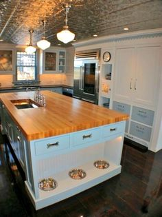 In built DOG BOWLS!! Love it-Driven By Décor: Stylish Built-in Dog Beds and Kennels