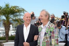 Bill Murray and Bruce Willis at event of Moonrise Kingdom