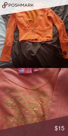 Puma cropped sweatshirt Cropped with cute inside patterns Puma Tops Sweatshirts & Hoodies