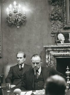 Marlon Brando and Robert Duvall in The Godfather, 1972