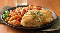 MY HUBBY'S BLOG: Oven Parmesan Chicken w/ Penne Marinara