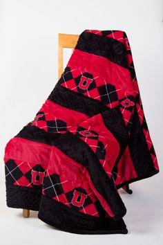 University of Utah cuddle minky quilt 60 X 72 by cindylouquilts, $140.00