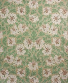 Rosie's Vintage Wallpaper - 1930's Vintage Wallpaper White and Brown Flowers, $115.00 (http://www.rosiesvintagewallpaper.com/1930s-vintage-wallpaper-white-and-brown-flowers/)