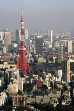 Tokyo Tower...stood at the highest point of this tower that the public is allowed to be