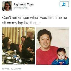 Big baby Mark<<omg but Raymond Tuan is precious we just protect him Yugyeom, Youngjae, Jyp Got7, Mark Bambam, Got7 Meme, Got7 Funny, Got7 Mark Tuan, Funny Kpop Memes, Bts Memes