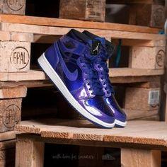 35a57dc5e560 Air Jordan 1 Retro High Deep Royal  Black-White Jordan Sneakers