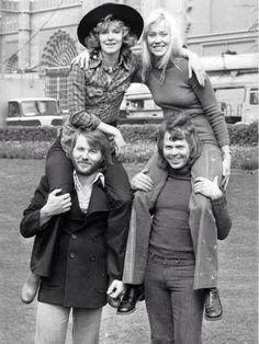 Swedish Pop Group ABBA early photo shoot