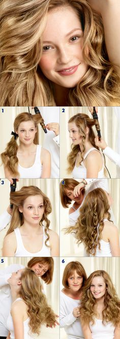 Our tutorial for natural summer waves: STEP 1: Work from your parting and wind the hair around the wand away from the face towards the back. STEP 2: Work around the head in a circular pattern so as to make sure that there are no partings in the hair. STEP 3: Continue in this pattern until all the hair has been heated. STEP 4: Shake the style out by running your hands through the hair to break up the curl and to give the hair a more natural finish. Finish with spray. #nivea #hair #style…