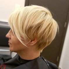 Long Blonde Pixie Haircut
