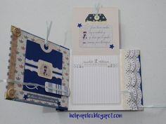Heli Papeles ♥: Libro de firmas Decorative Storage, Diy Storage, Explosion Box, Mini Scrapbook Albums, Book Binding, First Communion, Mini Books, Scrapbooks, Paper Crafts