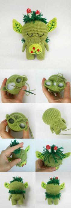 Free amigurumi crochet pattern. Forest Spirit. So cute!