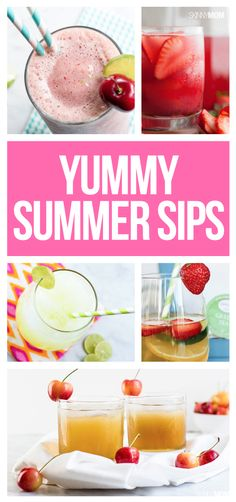 Healthy drinks for those hot summer days