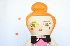 Fabric doll #MandarinasDeTela www.mandarinasdetela.etsy.com