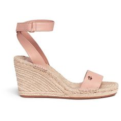 cb1d2f43374e9 Tory Burch  Bima  leather espadrille wedge sandals (10 000 UAH) ❤ liked on  Polyvore featuring shoes