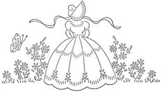 WB southern belle and flowers 1 Silk Ribbon Embroidery, Vintage Embroidery, Vintage Crochet, Cross Stitch Embroidery, Embroidery Patterns, Hand Embroidery, Cross Stitch Patterns, Machine Embroidery, Crazy Quilting