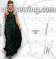 yo elijo coser: Patrón gratis: vestido largo estampado para celebraciones de verano