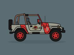 Jurassic Park Jeep by Adam Tetzlaff - Dribbble