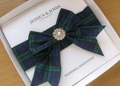 Luxury-Scottish-Tartan-Wedding-Invitation-with-Diamante-Boxed-Many-Clans