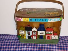 Vintage Hand Painted Basket by TrueColorsBoutique on Etsy, $40.00