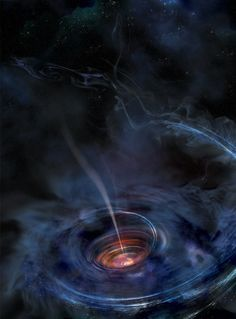 Black Hole Accreting with Jet Illustration Credit: NASA, Swift, Aurore Simonnet (Sonoma State U.): What happens when a black hole devours a star? Many details remain unknown, but recent observations are providing new clues