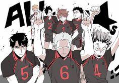 HQ || Ushijima, Aone, Bokuto, Oikawa, Iwaizumi, Kuroo, Yaku