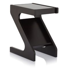 Furniture of America Enzo Modern Black Tinted Tempered Glass Top Chairside-End Table with Magazine Rack | Overstock.com Shopping -…