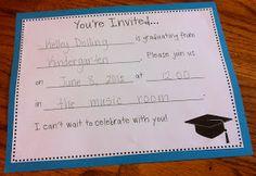 Students make invitations for graduation!