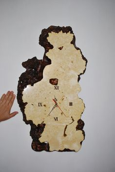 Wood Maple Burl Clock Handmade Natural Edge Maple Burl Clock.  More products at petro.teslya.info