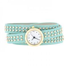 Mint Mini Studded Wrap Watch